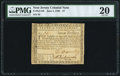 Colonial Notes:New Jersey, New Jersey June 9, 1780 $7 PMG Very Fine 20. R...