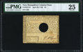 Colonial Notes:New Hampshire, New Hampshire April 29, 1780 $3 PMG Very Fine 25.. ...