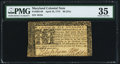 Colonial Notes:Maryland, Maryland April 10, 1774 $6 PMG Choice Very Fine 35.. ...