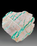 Lapidary Art:Carvings, Variscite Slab. Western Australia. 6.69 x 6.69 x 0.71 inches(17.00 x 17.00 x 1.80 cm). ...