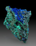 Minerals:Cabinet Specimens, Azurite & Malachite. Tsumeb Mine (Tsumcorp Mine). Tsumeb,Oshikoto Region. Namibia. 6.30 x 3.94 x 2.76 inches (16.00 x10....