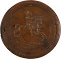 Political:3D & Other Display (pre-1896), George Washington: Early Wooden Equestrian Snuff Box....