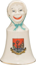 Political:3D & Other Display (1896-present), Woman's Suffrage: English Janus-Faced Ceramic Bell....