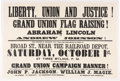 "Political:Posters & Broadsides (pre-1896), Abraham Lincoln: Important 1864 New Jersey ""Flag Raising"" Broadside.. ..."