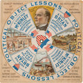 Political:Small Paper (1896-present), William McKinley or William Jennings Bryan: Fabulous Multicolor Mechanical 1896 Election Card. ...