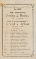 Political:Small Paper (pre-1896), Stephen A. Douglas: Virginia Ballot....