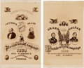 Political:Small Paper (pre-1896), Grant & Colfax and Seymour & Blair: Matched Pair of OrnateCartes-de-Visite.... (Total: 2 Items)