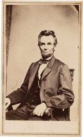 Photography:CDVs, Abraham Lincoln: Anthony/Brady Carte-de-Visite....