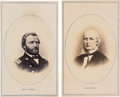 Photography:CDVs, Ulysses S. Grant and Horace Greeley: Matching CDVs with Applied Albumen Photographs.... (Total: 2 Items)