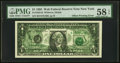 Error Notes:Offsets, Full Back to Face Offset Error Fr. 1921-B $1 1995 Federal ReserveNote. PMG Choice About Unc 58 EPQ.. ...