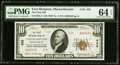 National Bank Notes:Massachusetts, Easthampton, MA - $10 1929 Ty. 2 The First NB Ch. # 428 PMG ChoiceUncirculated 64 EPQ.. ...