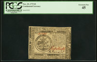 Continental Currency November 29, 1775 $5 PCGS Extremely Fine 45