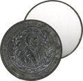 Political:3D & Other Display (pre-1896), Zachary Taylor: Pewter Shaving Mirror in Exceptional Condition. ...