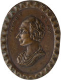 Political:Tokens & Medals, Henry Clay: Rare Oval Copper Shell.. ...
