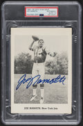 Autographs:Sports Cards, Signed 1965-66 New York Jets Team Issue Photo Joe Namath PSA/DNA Authentic, Autograph 10. ...