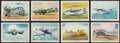 """Non-Sport Cards:Lots, 1940's T87 Wings Cigarettes """"Modern American Airplanes"""" Collection (82) Plus Fifteen """"Useful Birds of America"""" Cards...."""