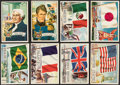 """Non-Sport Cards:Lots, 1956 Topps """"Flags of the World"""" & """"U.S. Presidents"""" Collection (75)...."""