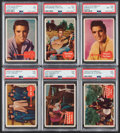 Non-Sport Cards:Lots, 1956 Topps Elvis Presley Collection (35)....