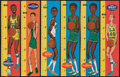 Basketball Cards:Lots, 1969/70 Topps Basketball Rulers Inserts Collection (26). ...