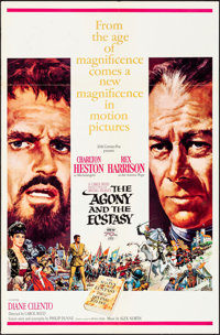 "The Agony and the Ecstasy & Other Lot (20th Century Fox, 1965). Folded, Very Fine-. One Sheets (2) (27"" X 41&qu..."