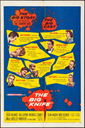 "Movie Posters:Drama, The Big Knife (United Artists, 1955). Folded, Fine/Very Fine. One Sheet (27"" X 41""). Drama.. ..."