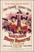 """Movie Posters:Musical, Gentlemen Marry Brunettes (United Artists, 1955). Folded, Fine/Very Fine. One Sheet (27"""" X 41""""). Musical.. ..."""