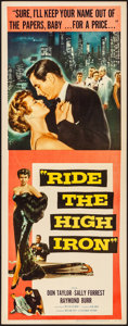 "Movie Posters:Drama, Ride the High Iron (Columbia, 1956). Folded, Very Fine. Insert (14"" X 36""). Drama.. ..."