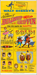 "Movie Posters:Comedy, The Adventures of Bullwhip Griffin (Buena Vista, 1967). Folded,Very Fine-. Three Sheet (41"" X 84""). Comedy.. ..."