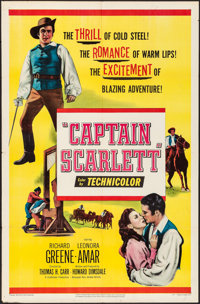 "Captain Scarlett & Other Lot (United Artists, 1953). Folded, Very Fine-. One Sheets (2) (27"" X 41""), H..."