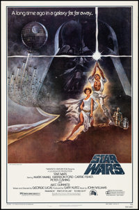 """Star Wars (20th Century Fox, 1977). Rolled, Very Fine. 2nd Printing One Sheet (27"""" X 41"""") with Original Tube..."""