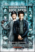 "Movie Posters:Mystery, Sherlock Holmes (Warner Brothers, 2009). Rolled, Near Mint. One Sheet (27"" X 40"") DS Advance. Mystery.. ..."