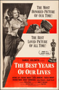 """Movie Posters:Drama, The Best Years of Our Lives (RKO, R-1954). Fine- on Foam Core. One Sheet (27"""" X 41""""). Drama.. ..."""