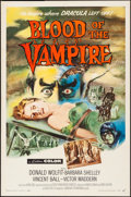 "Movie Posters:Horror, Blood of the Vampire (Universal International, 1958). Fine- onBoard. One Sheet (27"" X 41"") Joseph Smith Artwork. Horror.. ..."