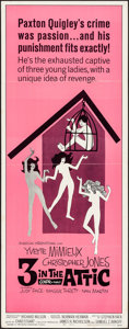 """Movie Posters:Comedy, 3 in the Attic (American International, 1968). Folded, Very Fine-.Insert (14"""" X 36""""). Comedy.. ..."""