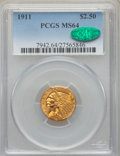 Indian Quarter Eagles: , 1911 $2 1/2 MS64 PCGS. CAC. PCGS Population: (823/152). NGC Census:(1144/178). CDN: $850 Whsle. Bid for problem-free NGC/P...