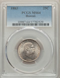 Coins of Hawaii , 1883 25C Hawaii Quarter MS64 PCGS. PCGS Population: (385/356). NGCCensus: (250/279). CDN: $375 Whsle. Bid for problem-free...