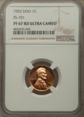 1953 1C Doubled Die Obverse, FS-101, PR67 Red Ultra Cameo NGC. NGC Census: (4/1). PCGS Population: (0/0)