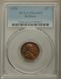 Proof Lincoln Cents, 1936 1C Type Two--Brilliant Finish PR64 Red and Brown PCGS. PCGS Population: (135/16). NGC Census: (48/20). CDN: $450 Whsle...