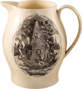 Political:3D & Other Display (pre-1896), George Washington: Memorial Liverpool Jug....