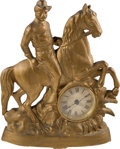Political:3D & Other Display (1896-present), Theodore Roosevelt: Rough Rider Mantel Clock. ...