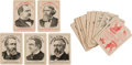 Political:Small Paper (pre-1896), Benjamin Harrison and Grover Cleveland: Full Deck of Playing Cards....