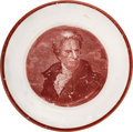 Political:3D & Other Display (pre-1896), Andrew Jackson: Classic Cup Plate with Enoch Wood Portrait.. ...
