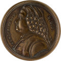 Political:3D & Other Display (pre-1896), Benjamin Franklin: Brass Drawer Pull with a High-relief Portrait.. ...