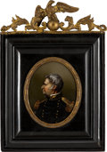 Political:3D & Other Display (pre-1896), Zachary Taylor: Superb Reverse Glass Portrait.. ...