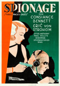 "Movie Posters:Drama, Three Faces East (Warner Brothers, 1931). Folded, Very Fine+. Swedish One Sheet (27.5"" X 39.5"").. ..."