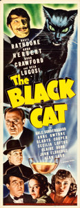 """Movie Posters:Mystery, The Black Cat (Universal, 1941). Folded, Very Fine-. Insert (14"""" X 36"""").. ..."""