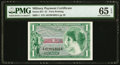 Series 651 $1 First Printing PMG Gem Uncirculated 65 EPQ