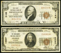 National Bank Notes:Alabama, Birmingham, AL - $10 1929 Ty. 1 The First NB Ch. # 3185 Very Fine;. Mobile, AL - $20 1929 Ty. 1 The Merchants ... (Total: 2 notes)