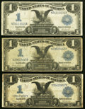 Large Size:Group Lots, Fr. 233 $1 1899 Silver Certificate Two Examples Very Good, Very Good-Fine;. Fr. 234 $1 1899 Silver Certificate Very Good-F... (Total: 3 notes)
