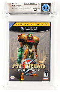 Metroid Prime (GameCube, Nintendo, 2002) Wata 9.4 A+ (Seal Rating) Variant: Player's Choice